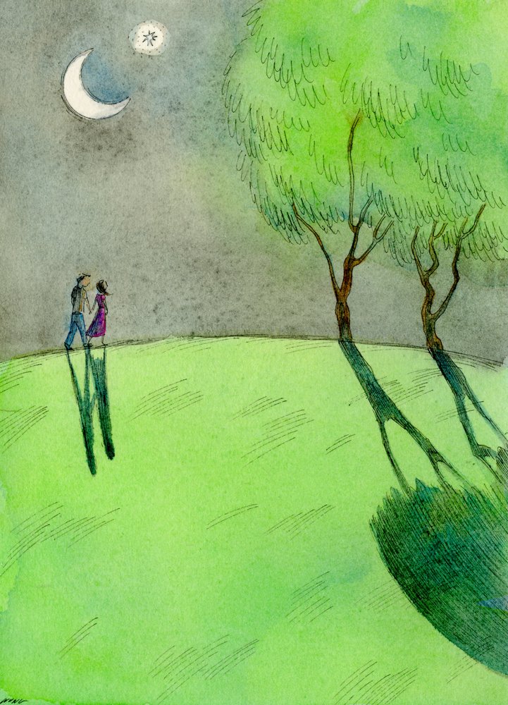 eBay.5x7.Moonlight walk