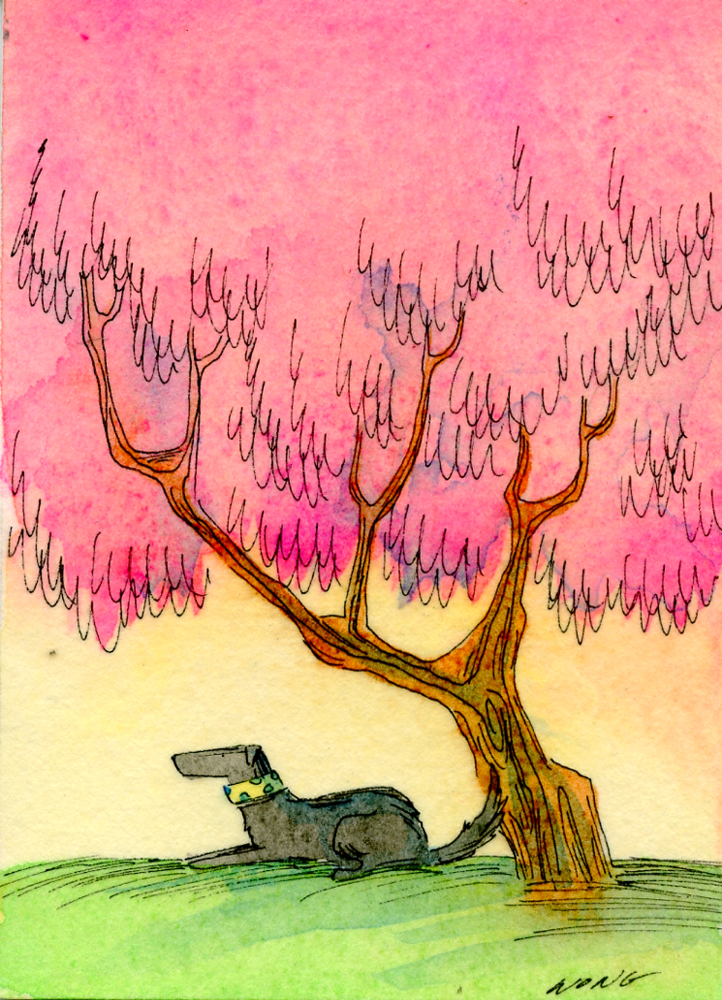 etsy.aceo.Peaceful in pink