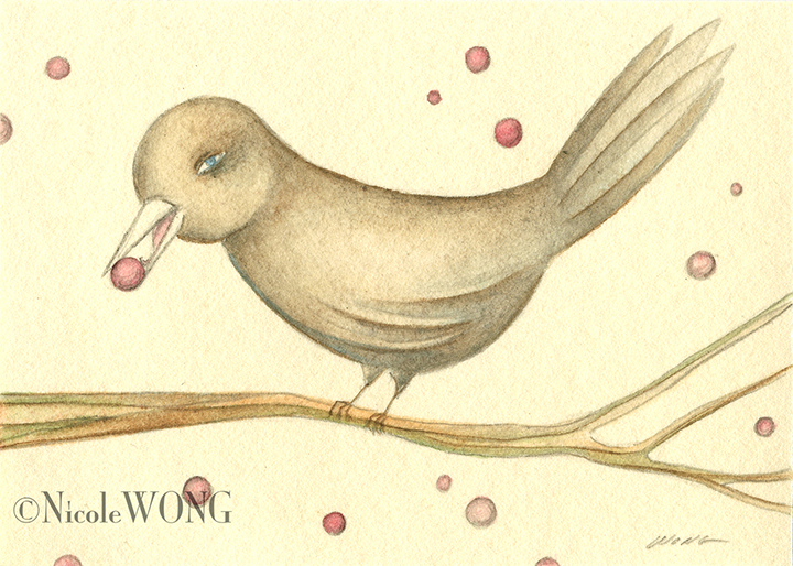 aceo.Bird-and-berries