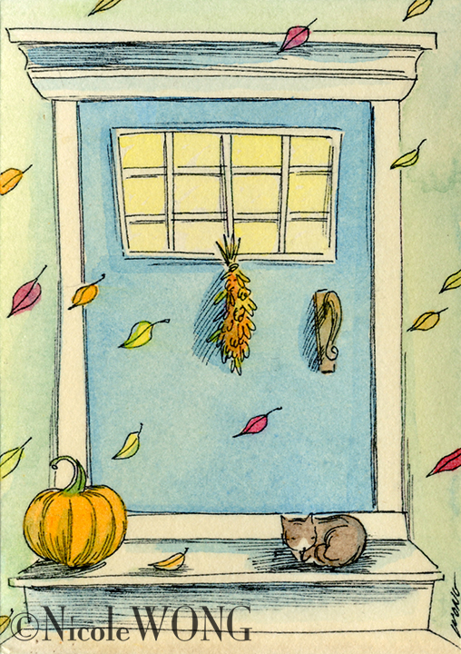 eBay.aceo.Autumn door