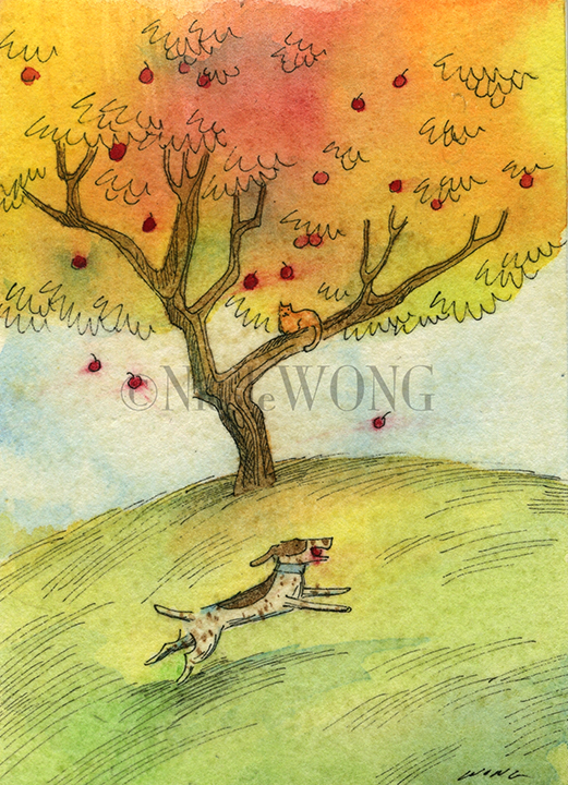 eBay.aceo.Apple picking