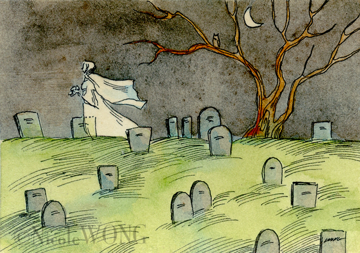 eBay.aceo.Cemetery Ghost