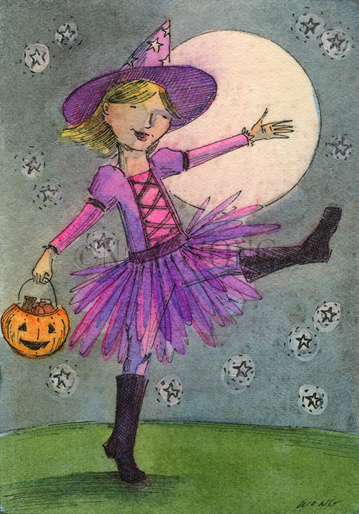 eBay.aceo.Halloween witch