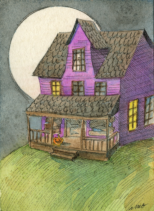 eBay.aceo.Haunted house