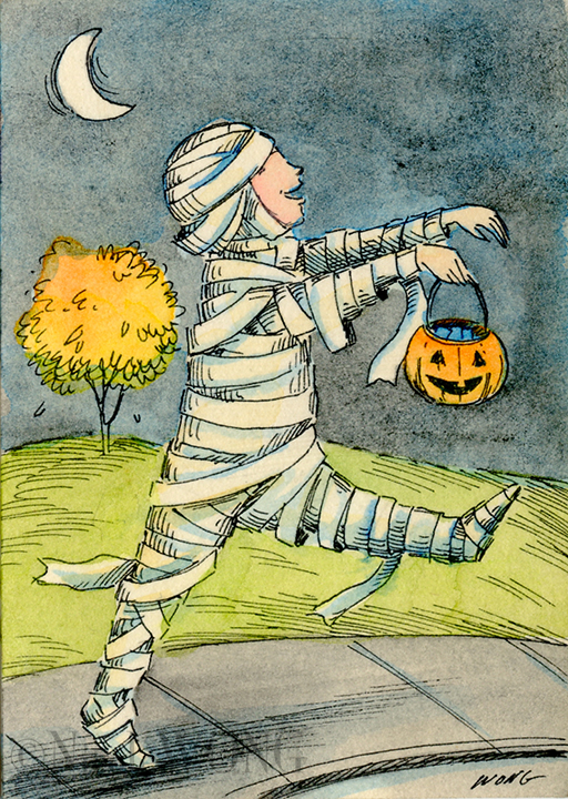 eBay.aceo.Mummy trick or treat