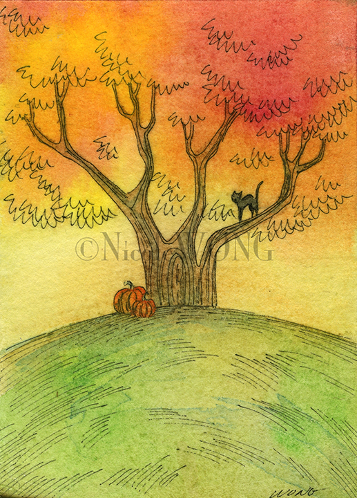 eBay.aceo.Autumn tree