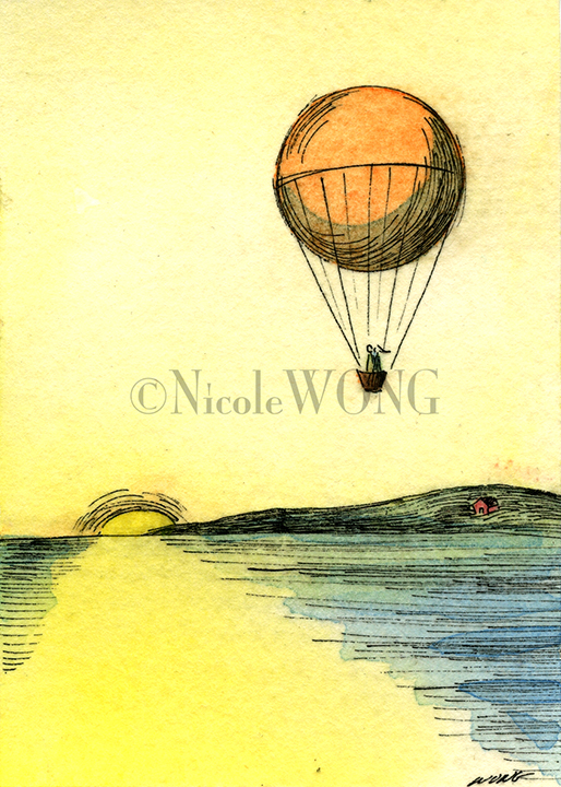 eBay.aceo.Hot air Balloon