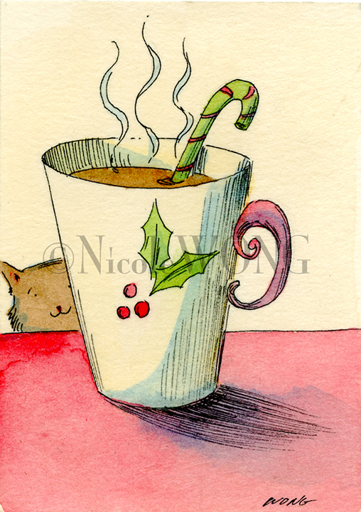 eBay.aceo.Hot cocoa time