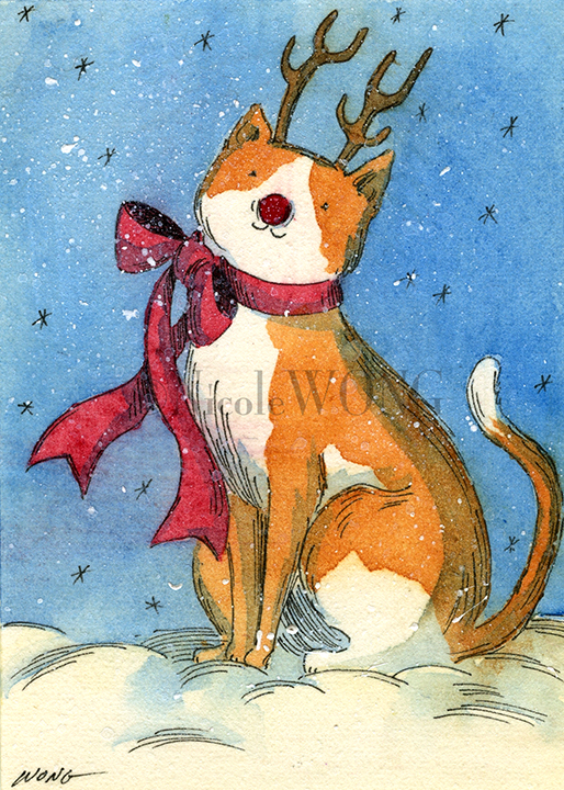 eBay.aceo.Rudolph kitty