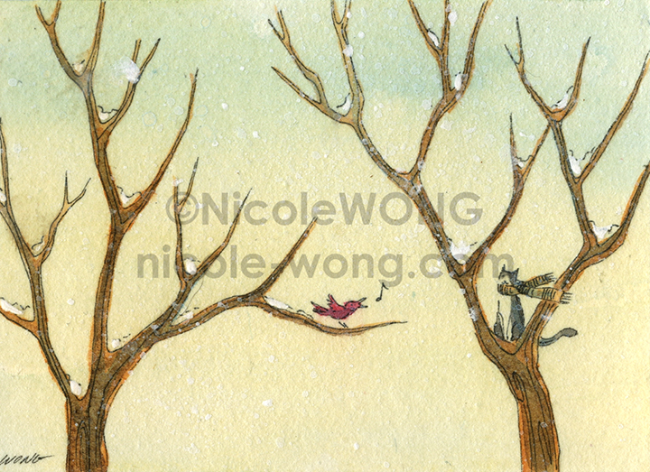 etsy.aceo.Winter-tune