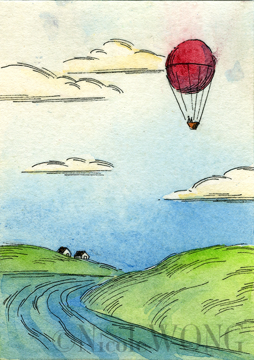 eBay.aceo.Red Balloon