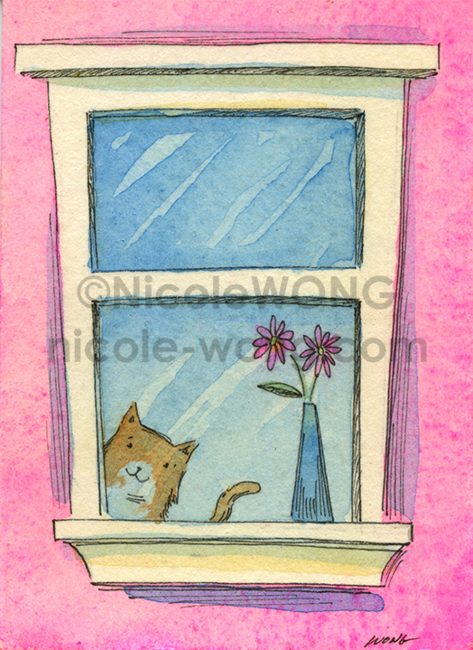 eBay.aceo.Peek-out-in-pink
