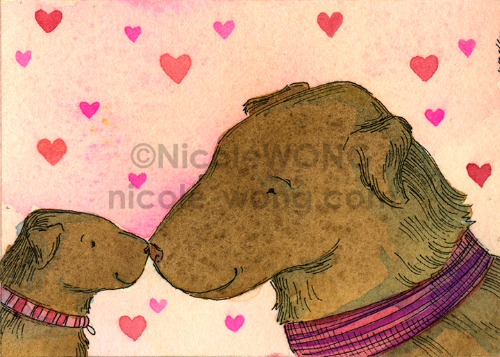 etsy.aceo.Noses-with-Mom