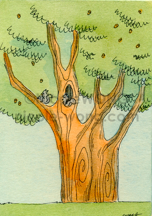 eBay.aceo.The-acorn-tree
