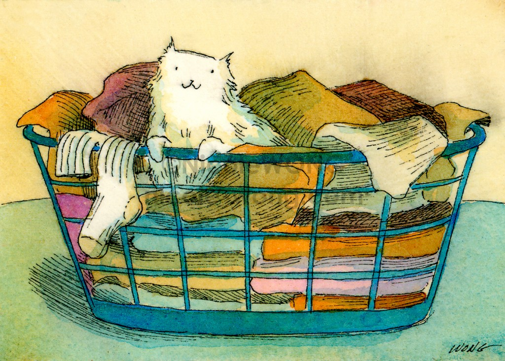 aceo.print.Laundry-Basket-Cat