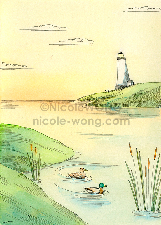 eBay.5x7.Quiet-duck-swim
