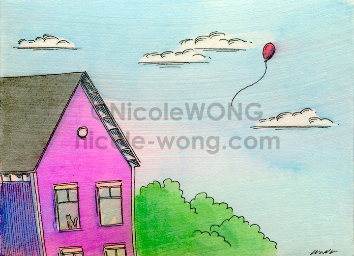 eBay.aceo.Fly-away-red-balloon