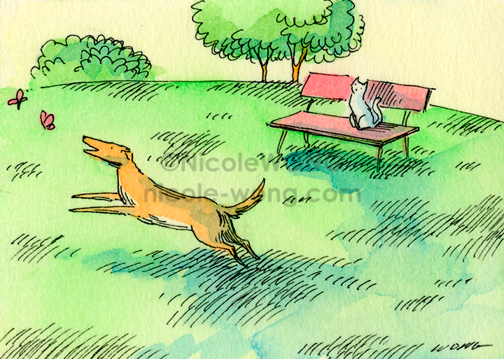 eBay.aceo.Watching-the-silly-dog