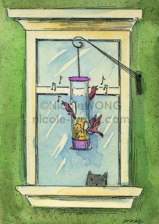 etsy.aceo.Bird-feeder