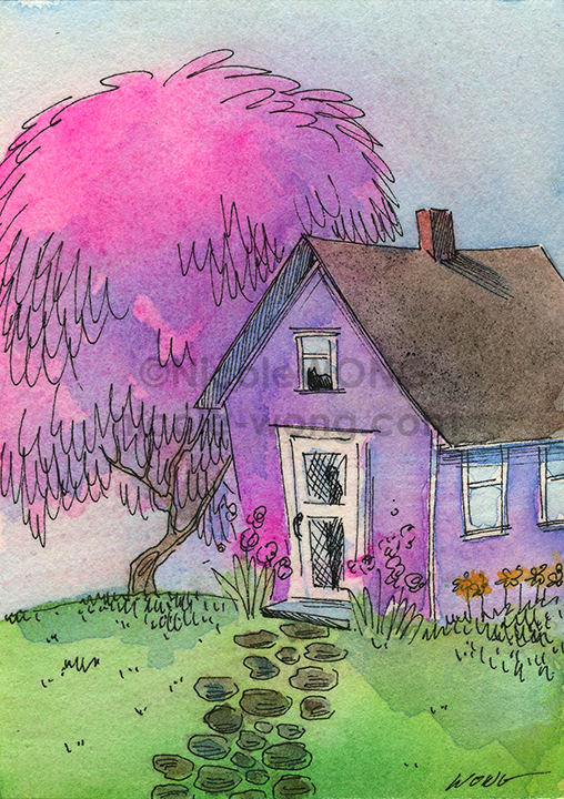 etsy.aceo.Cottage