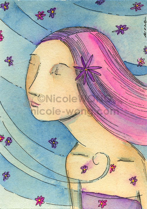 etsy.aceo.Flowers-in-the-air