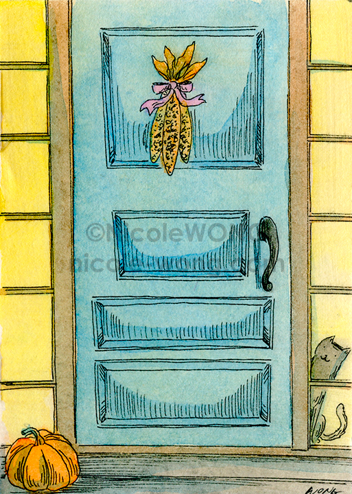 ebay.aceo.Peeking-out