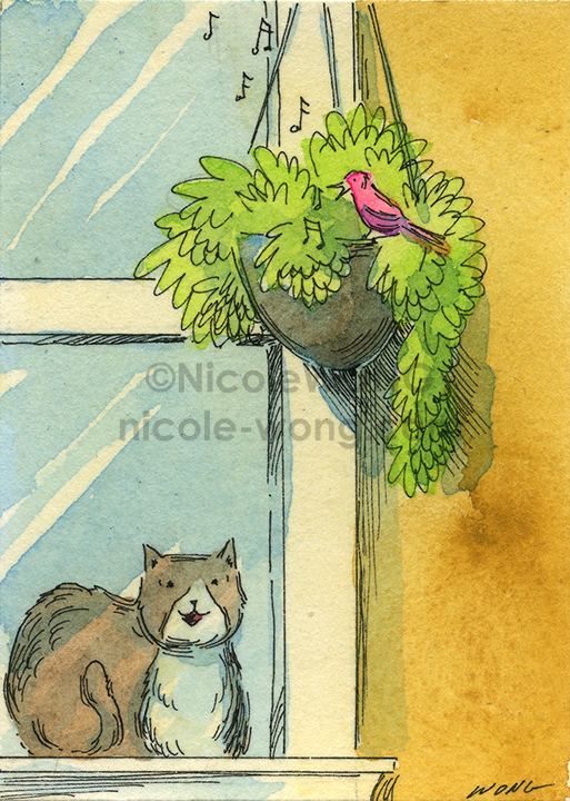 etsy.aceo.Singing-birdy-at-my-window