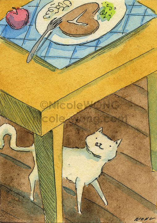 etsy.aceo.Something-smells-good-for-dinner