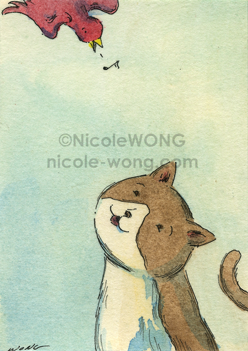 etsy.aceo.Song-in-the-air