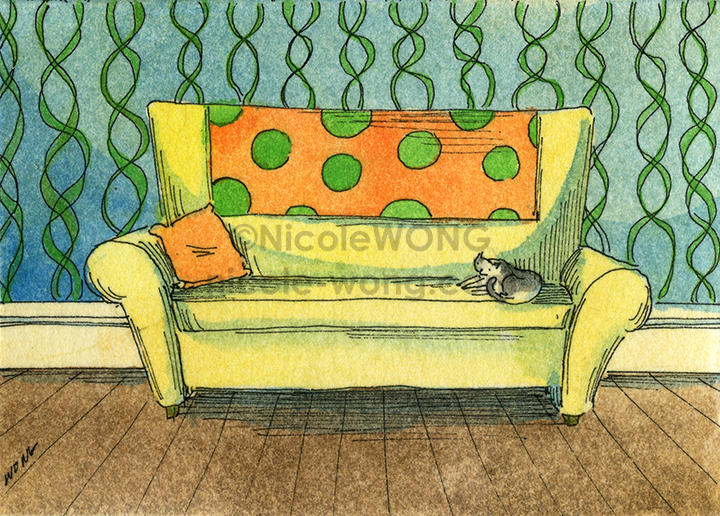 etsy.aceo.Cat-on-the-couch