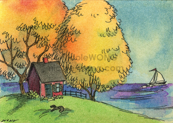 etsy.aceo.Quiet-fall-day