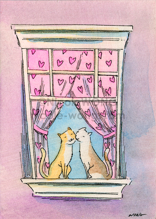 eBay.aceo.Window-kiss