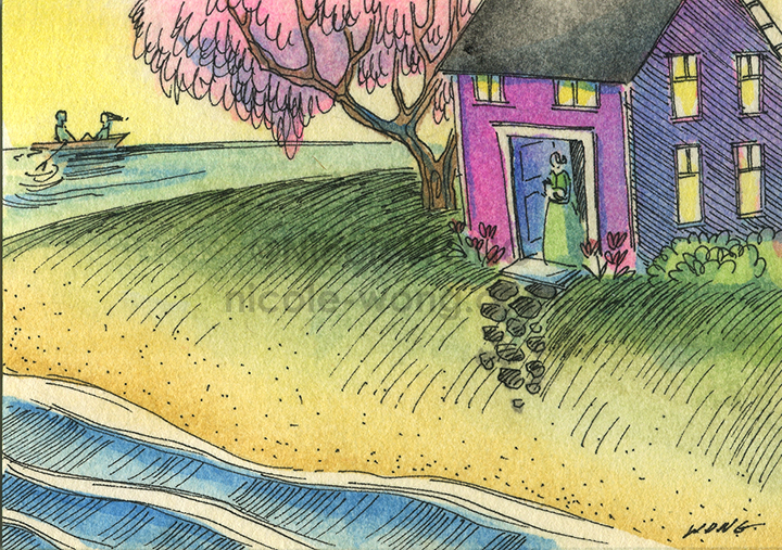etsy.aceo.Island-home