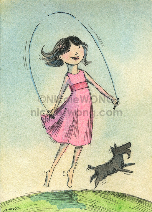 etsy.aceo.Jump-rope-with-Scottie