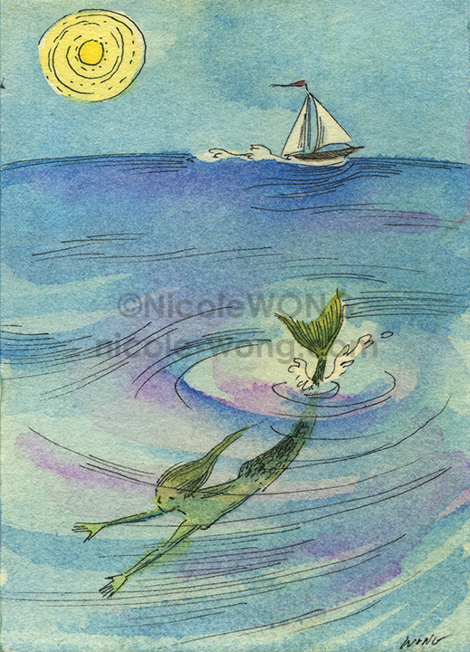 etsy.aceo.Mermaid