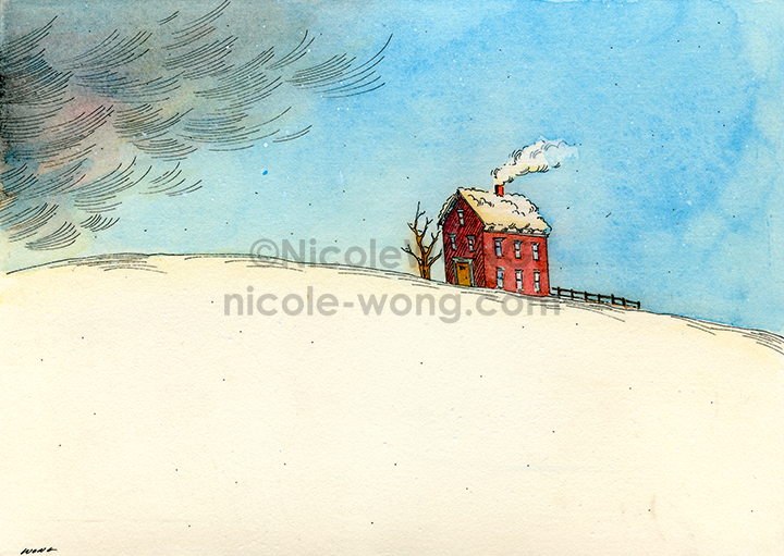 ebay.5x7.House-in-the-snow