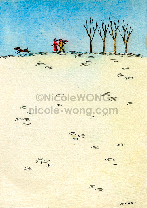 ebay.aceo.Snow-walk