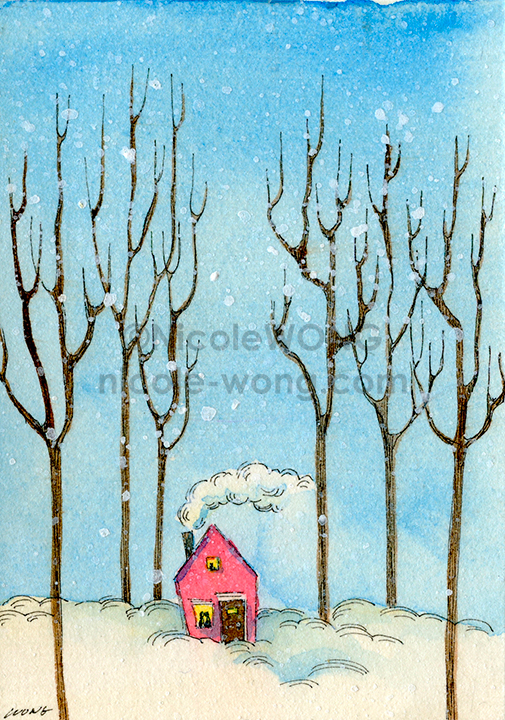 ebay.aceo.Snowed-in-and-happy