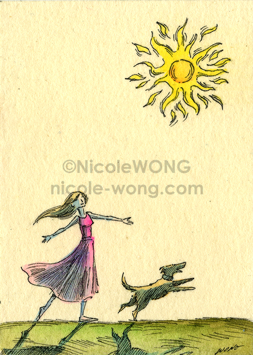 etsy.aceo.Dancing-in-sunlight