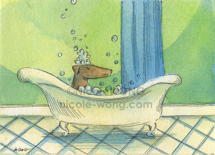 etsy.aceo.Bath-time