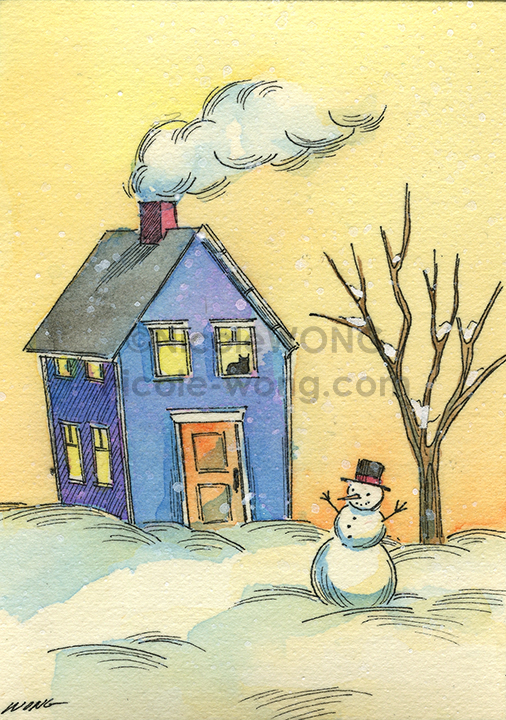 etsy.aceo.Snow-day