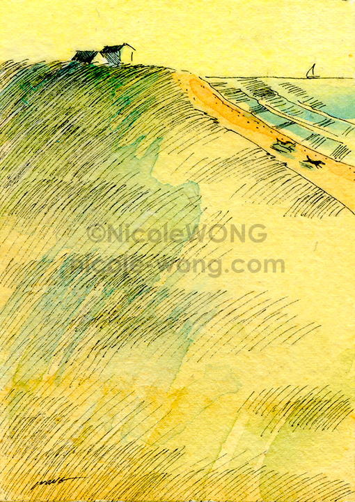 ebay.aceo.Beach-Landscape