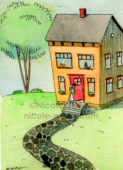 ebay.aceo.House-cleaning