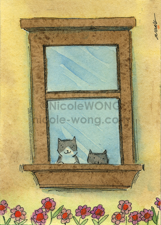 etsy.aceo.Peeking-out