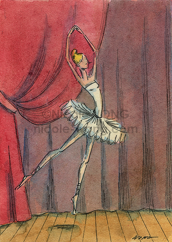 etsy.aceo.Ballet-dancer
