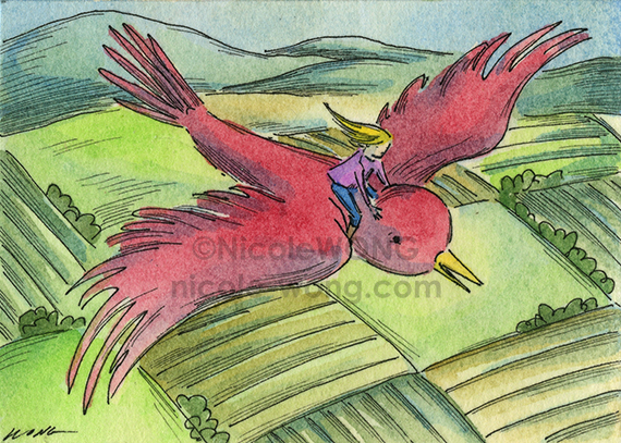 etsy.aceo.Flight