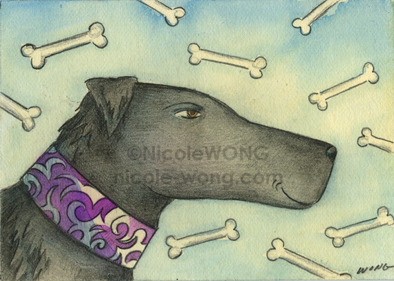 etsy.aceo.Black-Lab
