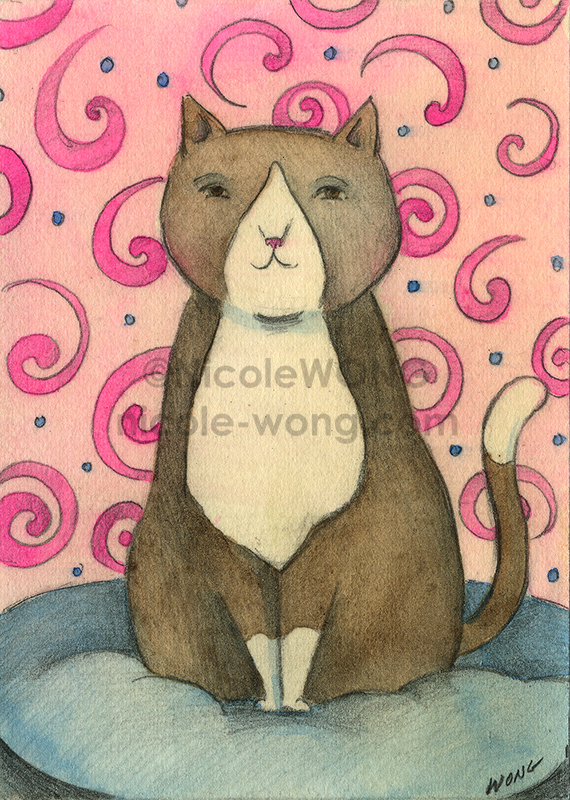 etsy.aceo.Kitty-Portrait
