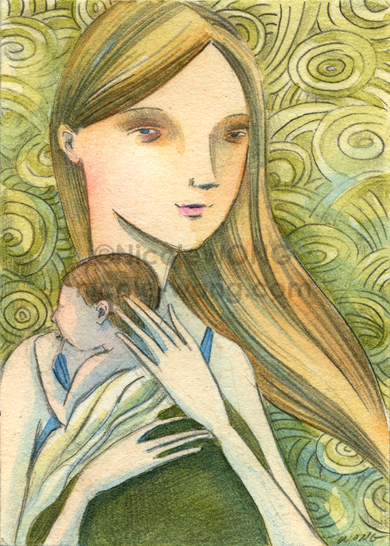 etsy.aceo.Tired-mom