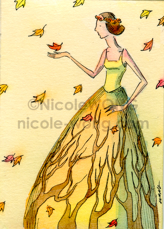 ebay.aceo.Autumn-maiden